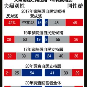 同性婚賛成が46%に! 反対は23%