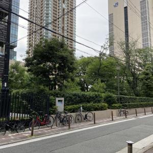 大阪市北区芝田の旧町名継承碑「牛丸町」