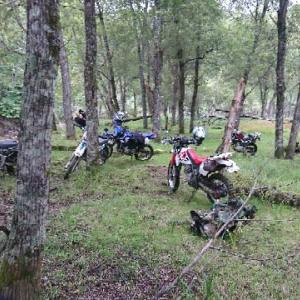 北海道 穂別のキャンプ バイク