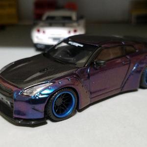 日産 LB★WORKS R35 GT-R タイプ1 リアウイング バージョン2 (MINIGT)