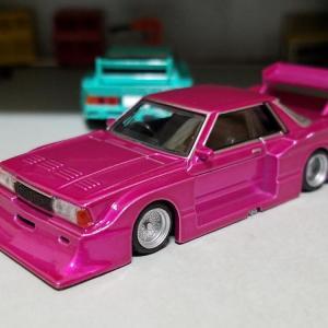 日産 KB910 ブルーバード 2ドアハードトップ 1983年式 街道レーサー仕様 (アオシマ)
