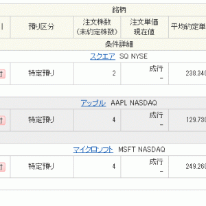 AAPL & MSFT & SQ購入
