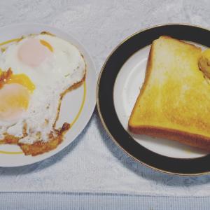 お寝坊の朝食
