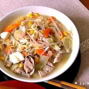 【副作用対策レシピメモ】インスタント麺で簡単♪長崎ちゃんぽん風*倦怠感がある時に【乳がんサバイバー】