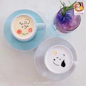 【韓国カフェ】可愛くて飲むのがもったいない!ラテアートが可愛い韓国のカフェ紹介♡