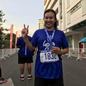 タイ語の先生の付き添いでGood Guy Run13kmに参加 かかって来なさい!タイランド