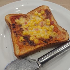 コーンたっぷりピザトースト(ガスト)