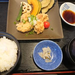 若鶏の竜田揚げみぞれポン酢定食(和食レストラン夢庵)