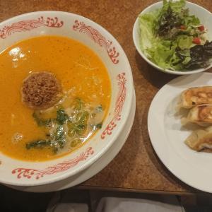 担々麺餃子サラダセット(バーミヤン)