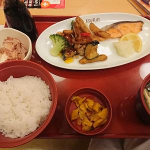 彩り御膳(黒酢あんかけと焼き鮭)(Joyfull)