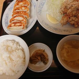 塩から揚げセット(餃子の満州)