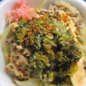 高菜明太マヨ牛丼弁当(すき家)