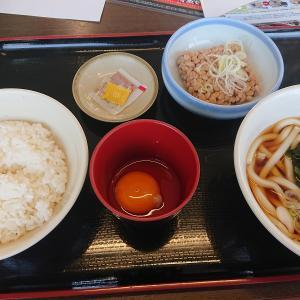 菅谷の納豆朝定食(山田うどん食堂)