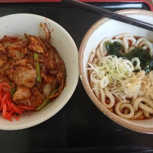 秩父スタイル豚味噌焼き肉丼セット(山田うどん食堂)