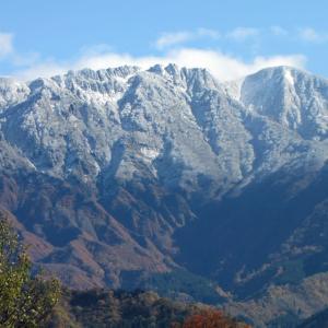 八海山に二回目の冠雪です