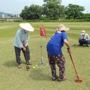 区楽寿会のグランドゴルフ