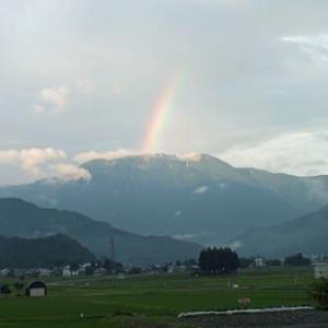 夕方に虹が出た