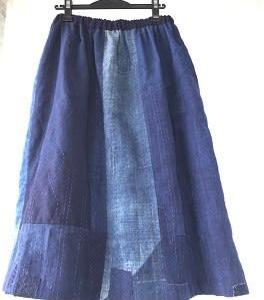 7月29日 できた! 古布のギャザースカート