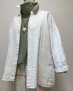 2月27日 着古した綿シャツが刺し子で再生