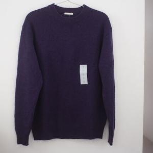 【GU】4色買いしたソフトラムブレンドクルーネックセーター