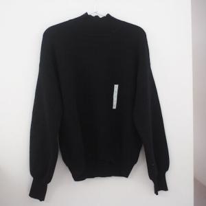 【GU】スウェットライクハイネックセーター(長袖)