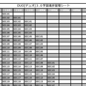 [学習進捗管理シート] DUO[デュオ]3.0