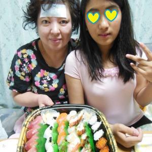 姉がダウン!手足口病。私は気象病。カッパ寿司と大衆中華の持ち帰り。