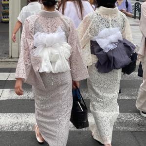 京都は着物の街 ~ レースの着物