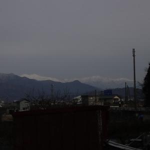 福井から白山連峰を望む。