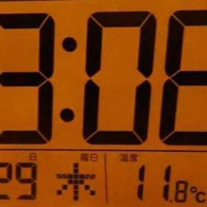 朝から気温がほとんど変わらない日。