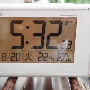 23度を下回る日が続く様になって来ました。