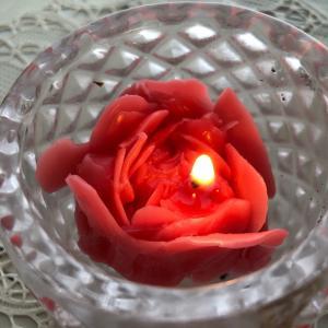 薔薇のキャンドル難しい!