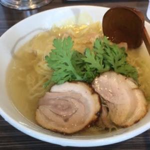 厚木市 本丸亭 本丸塩らー麺 850円+肉ワンタン250円