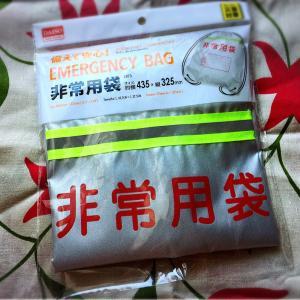 台風怖い(>_<) ダイソーで、非常用袋を買ってきました