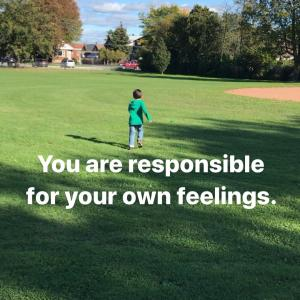 自分の感情に責任を持つ