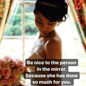 鏡の中の自分