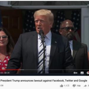 トランプがFaceBook,Twitter、Googleを相手に訴訟を起こすと発表
