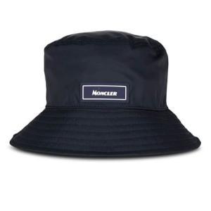【ヘビロテ!】Moncler モンクレール ロゴ入り バケットハット メンズ ハット ネイビー