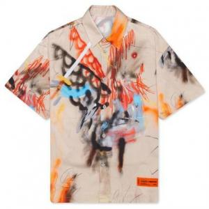 【あのシャツ】米津玄師さん着用 HERON PRESTON ヘロンプレストン グラフィック ベースボールシャツ
