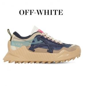 【新着速報】OFF-WHITE オフホワイト ODSY ロートップ レザー スニーカー ヌード/ブルー