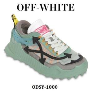 【新着速報】OFF-WHITE オフホワイト ODSY-1000 ロートップ スニーカー ブルー/ブラック