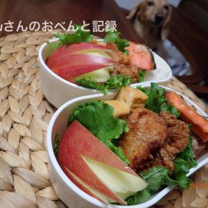 豚の竜田揚げ弁当(願いが叶った寝かせ玄米)
