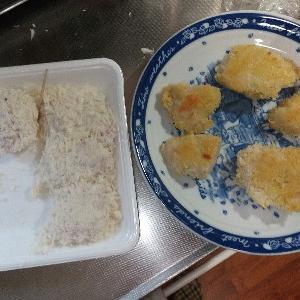 コンベクションオーブンで揚げないチキンカツ