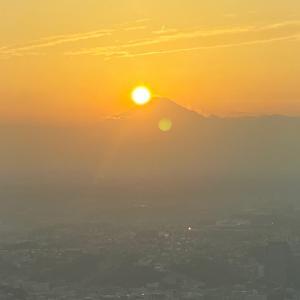 夕日 富士山