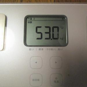 体重測定・・・少し体重が増えた(反省)