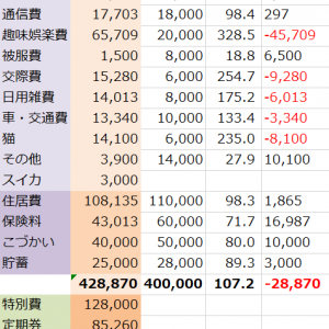 【2019年5・6月】家計簿締め