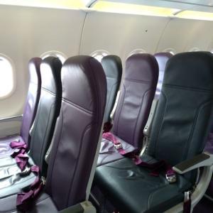 Peach Aviation「リクライニング固定座席」を装備した機材をレビュー!