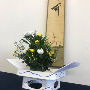 長月の室礼〜菊と月〜