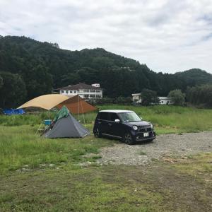 大雨キャンプ 前日の天気予報は大嘘だった
