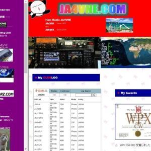 Web Site「 JA4VNE.COM 」更新